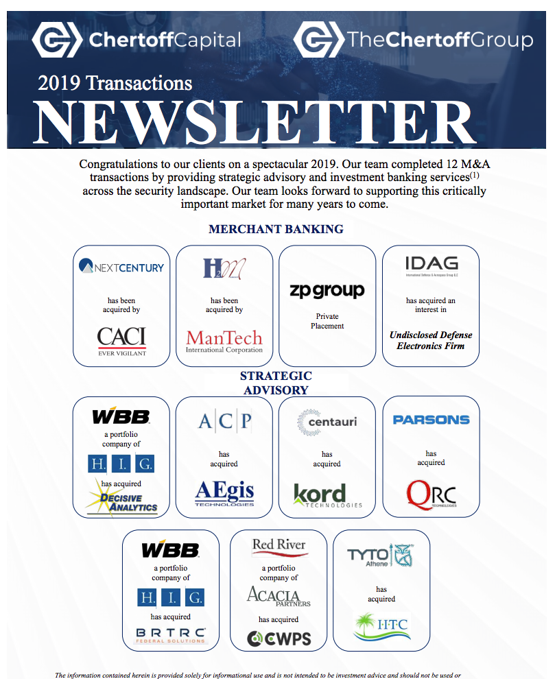 Chertoff_Capital_2019_Transactions_Newsletter_Cover
